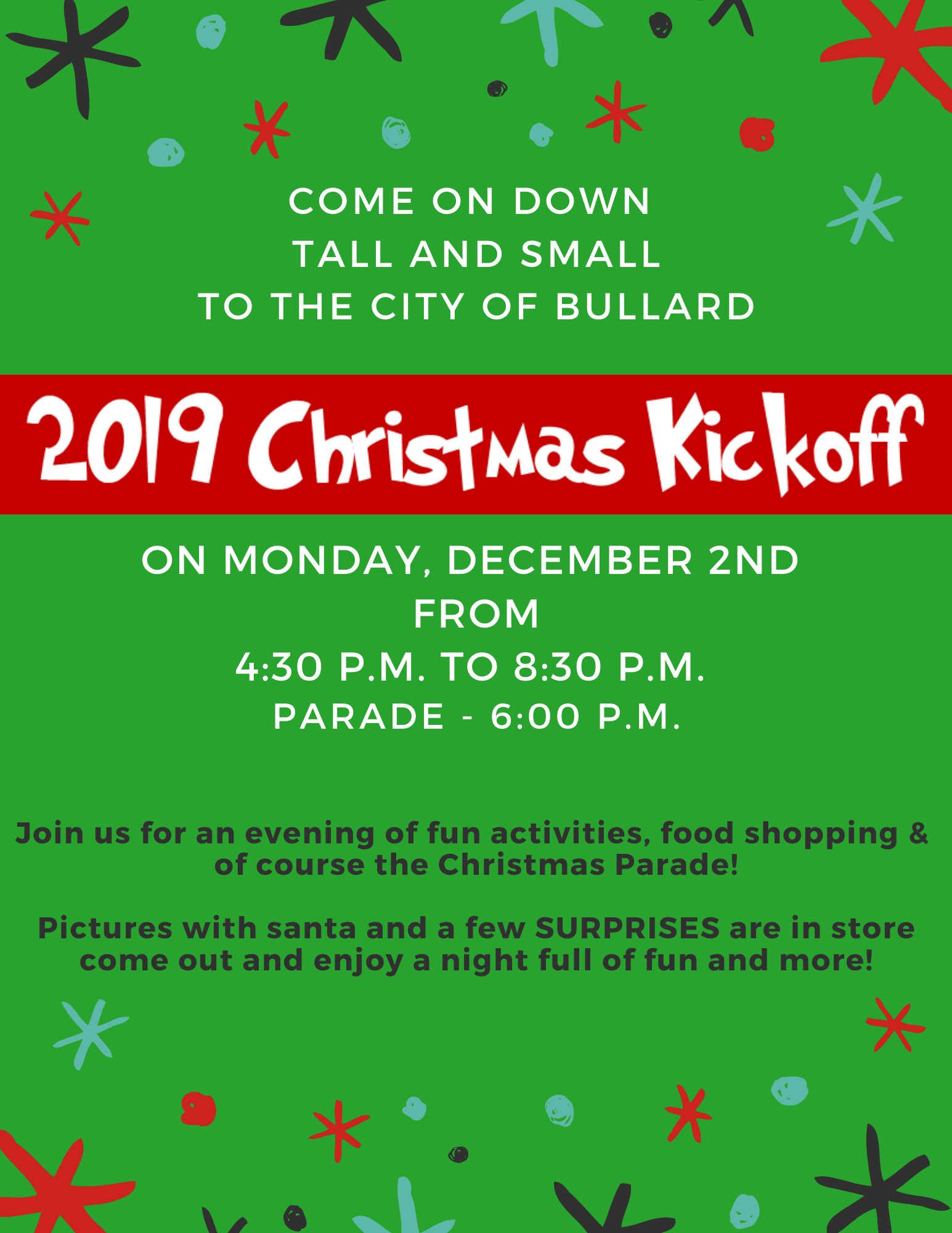 Christmas Kickoff 2019 Flyer Opens in new window