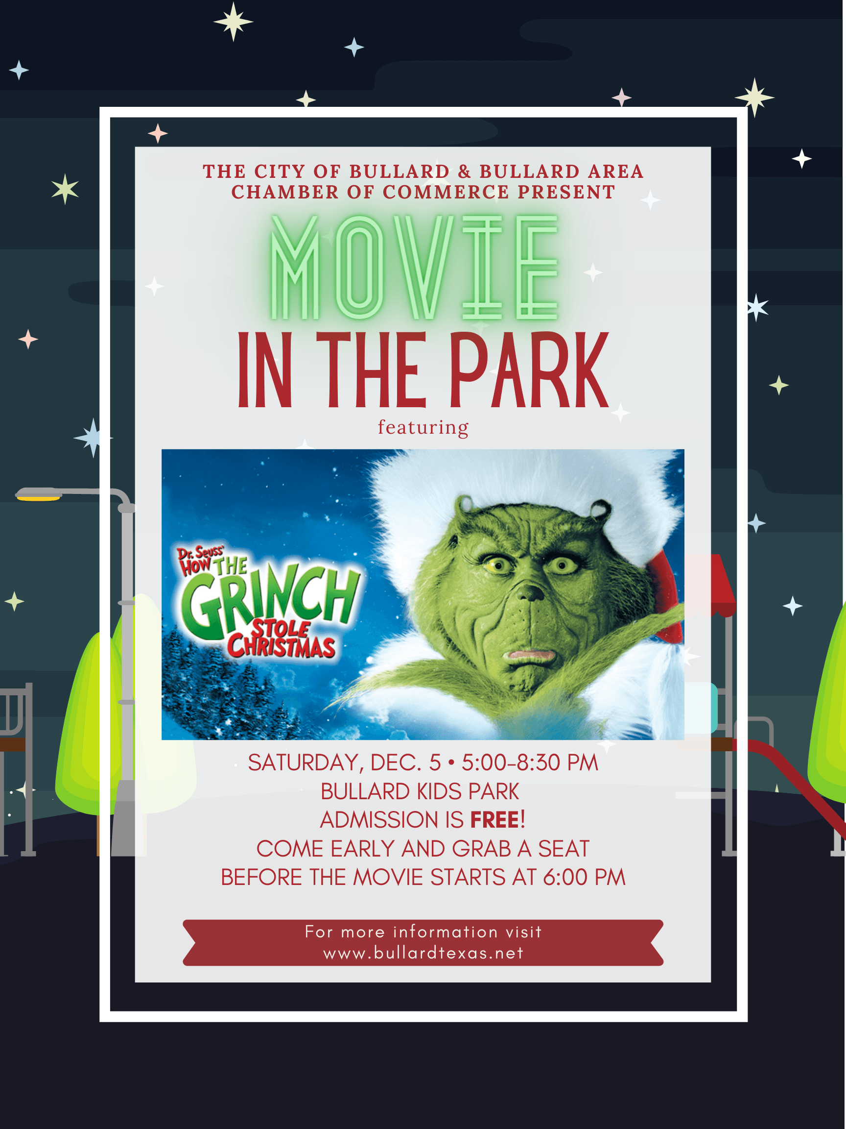 2020 Christmas Kickoff Movie in the park